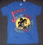 J5 Collection *Jackson 5 Names * Official Fashion Blue Crew T-Shirt (USA)
