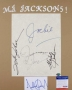 Jackson 5 Autographs On A Piece Of Ivory Board