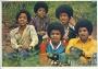 Jackson Five (Group Portrait) Pop Stars #79 Mini Poster/Sticker *Panini* (Germany)