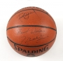 Jam Video Basketball Signed by Michael And Michael Jordan (1992)