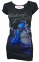 King Of Pop Blue Foil Official *Amplified* Black Womens Shirt (UK)