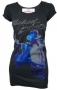 King Of Pop Blue Foil Official *Amplified* Black Womens Shirt (UK)