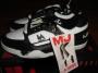 L.A. Gear Unstoppable Black/White Leather Shoes *Moon Rocker Low* Style 5712 W/BK (USA)
