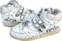 L.A. Gear Unstoppable White Leather Shoes *Billie Jean* Style 6180 W (USA)