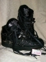 L.A. Gear Unstoppable Black Leather Shoes *Billie Jean* Style 6180 BK (USA)