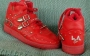 L.A. Gear Unstoppable Red Leather Shoes *Billie Jean* Style 6180 RD (USA)