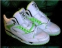 L.A. Gear Unstoppable White/Green Leather Shoes *BAD* Style 4158 W/G (USA)