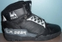 L.A. Gear Unstoppable Black Leather Shoes 'Street Magic High' Series 1152 BK (USA)