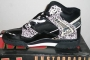 L.A. Gear Unstoppable Black/White Leather Shoes 'BAD' Series 4158T BK/W (USA)
