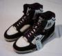 L.A. Gear Unstoppable Black/White Leather Shoes *Moon Rocker High* Style 1714  W/BK (USA)