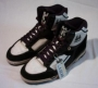 L.A. Gear Unstoppable Black/White Leather Shoes *Moon Rocker High* Style 1714  W/BK (USA)
