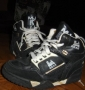L.A. Gear Unstoppable Black/White Leather Shoes *Moon Rocker High* Style 1714 BK (USA)