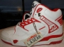L.A. Gear  Unstoppable White/Red Leather Shoes *BAD* Style 4158 W/RD (USA)