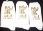L.A. Gear Socks: White With Gold Glitter (USA)