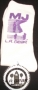 L.A. Gear Socks: White With Purple Glitter (USA)