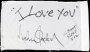 Linen Signed By Michael Jackson *I Must Sleep Now* (Date Unkown)