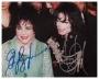Liz Taylor Birthday Celebration Photo Signed By Michael And Elizabeth Taylor (1997)