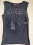 MJ Billie Jean Open Arm Official *Amplified* Black Mens Sleeveless Shirt (UK)