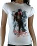MJ Billie Jean Smoke Official *Amplified* White Womens Shirt (UK)