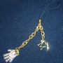 MJ Gallery At Ponte 16 *Gold Swarovski Glove* Mobile Phone Charm (Macao)