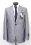 MJ Official Men's Clothing Line Gray Pinstripe Suit  Model 551 (Japan)