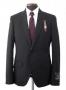 MJ Official Men's Clothing Line Black Pinstripe Suit  Model 96309 (Japan)