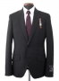 MJ Official Men's Clothing Line Black Pinstripe Suit  Model 96309 (Japan)