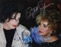 MSG Concert Red Carpet Photo Signed By Michael And Elizabeth Taylor (2001)