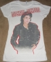 "Michael Jackson ""Bad Self"" Girlie White Bravado T-Shirt (USA)"