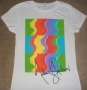 "Michael Jackson ""Color Flow"" Girlie White Bravado T-Shirt (USA)"