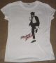 "Michael Jackson ""Dancer at Large"" Junior's Girlie White Bravado T-Shirt (USA)"