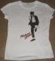 "Michael Jackson ""Dancer at Large"" Junior's Girlie White Bravado T-Shirt (USA)"
