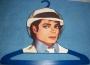 "Michael Jackson ""Smooth Criminal"" Clothes Hanger *Blue* (USA)"