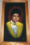 "Michael Jackson ""Yellow Vest With Bow Tie"" Bootleg Canvas Velvet Painting (USA)"