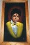 "Michael Jackson ""Yellow Vest With Bow Tie"" Bootleg Canvas Velvet Painting (USA)"