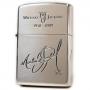 Michael Jackson Zippo Official Lighter Model D *Silver MJ Signature* (Japan)