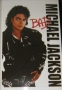 "Michael Jackson 2009 ''BAD LP Cover'' Commercial Poster *24""x36"" Standard Size* (UK)"