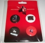 "Michael Jackson Official ""King of Pop"" Button Set *Bravado* (USA)"