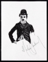 Michael Jackson Signed Charlie Chaplin Ink Drawing (1981)