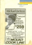 Michael Jackson 1987 Concert Tour Wellington Flyer (New Zealand)
