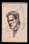 "Michael Jackson ""Frankenstein's Monster"" Ink Drawing (1977)"