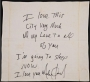 Michael Jackson Signed And Inscribed Hotel Napkin (UK)