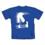 Michael Jackson 'Moonwalk' Official Blue T-Shirt (UK)