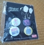 Michael Jackson Official Bravado 4 Button Set (USA)