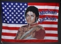 Michael Jackson Signed American Flag Banner (c. 1980's)