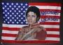 Michael Jackson Signed American Flag Banner (c. 1980's)