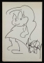 Michael Jackson Cartoon Girl Drawing (1985)