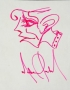 Michael Jackson Profile Drawing Of A Man In Pink Marker