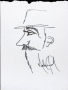 Michael Jackson Profile Drawing Of A Bearded Man With Hat