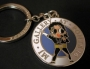 Michael Jackson 'Gallery At Ponte 16' Official 'Dangerous' Blue Enamel Keyring (Macao)